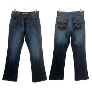 Apollo Jeans Womans 14 Blue Bootcut Jeans
